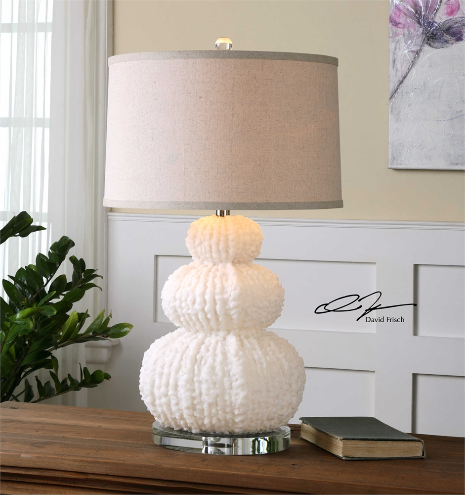 Textured Shell Ivory Lamp