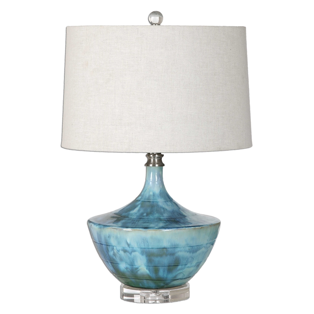Blue Tie Dyed Lamp