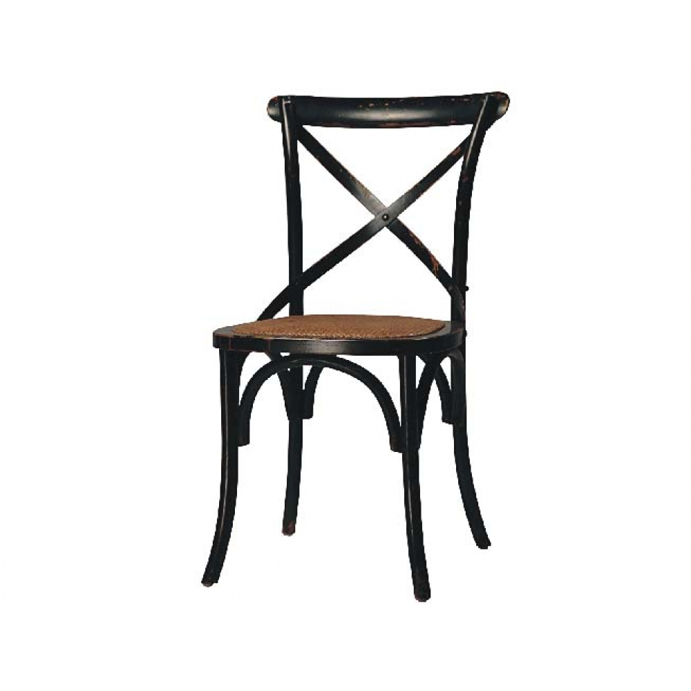 Gaston Black Cross Back Chair