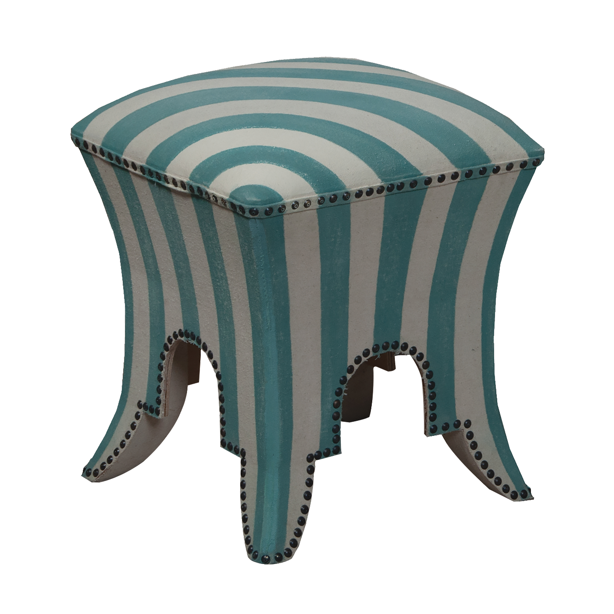 Striped Ottoman/Stool