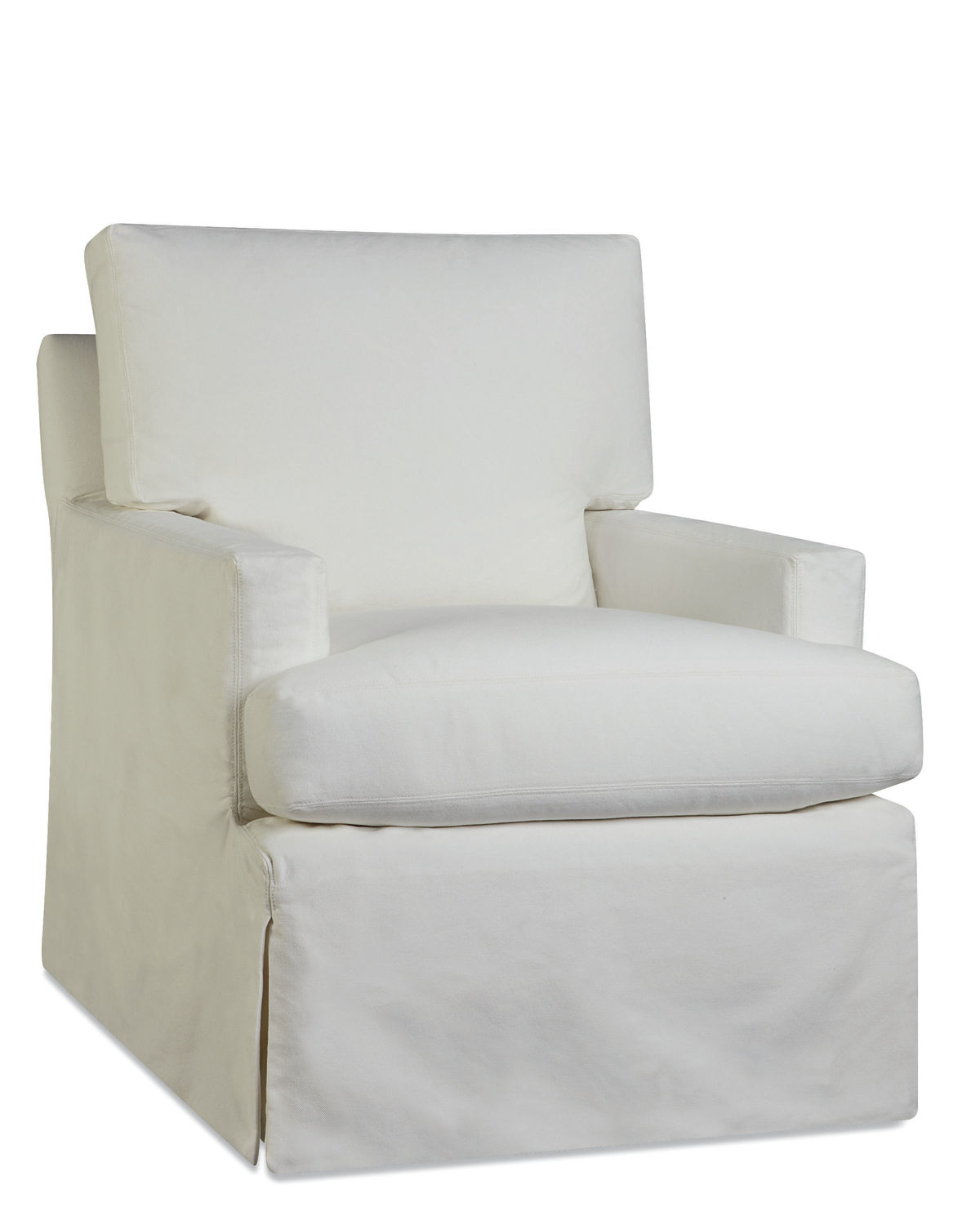 Upholstered Slipcover Swivel Chair