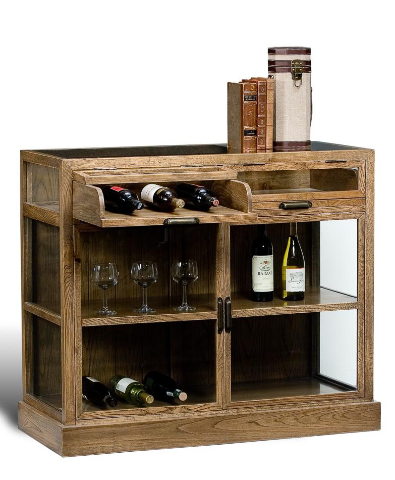 Grey Oak Display Cabinet