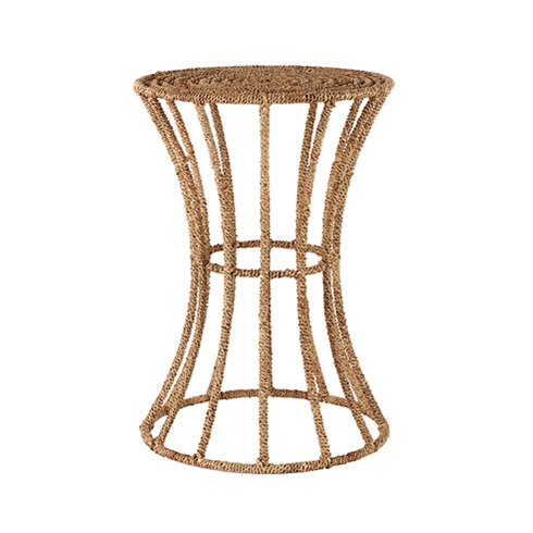 Jute Spool End Table