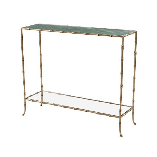 Coastal Mirrored Console Table