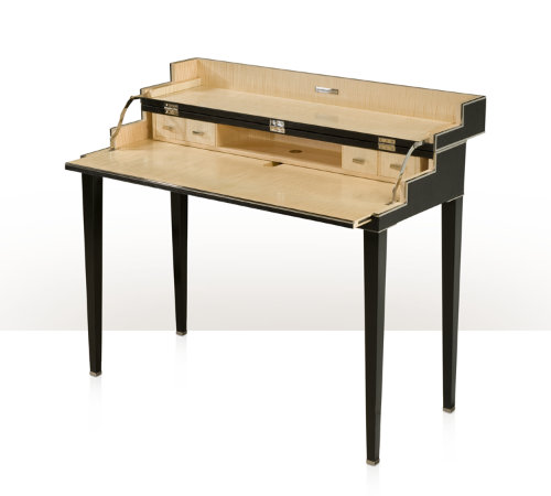 Leather Wrapped Folding Desk