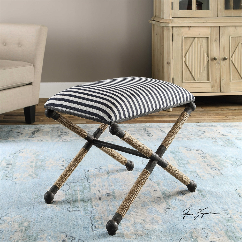 Blue Stripe Bench-$395.00