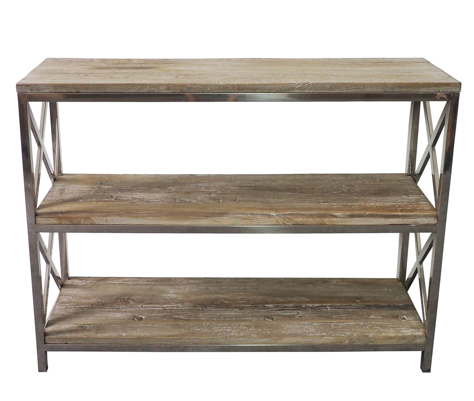 Old Elm New Steel Shelf