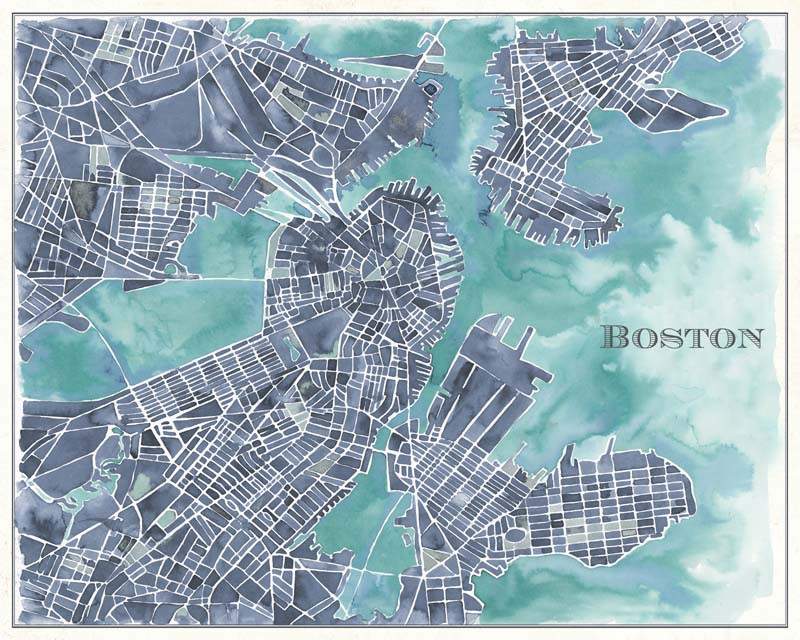 Watercolor Boston