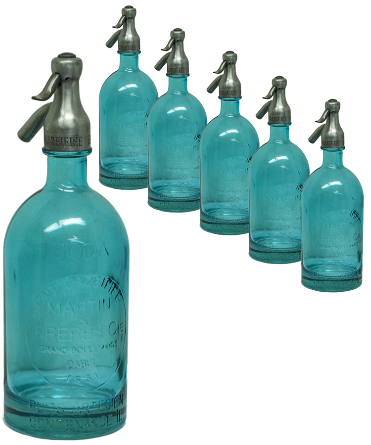 Blue Seltzer Bottle
