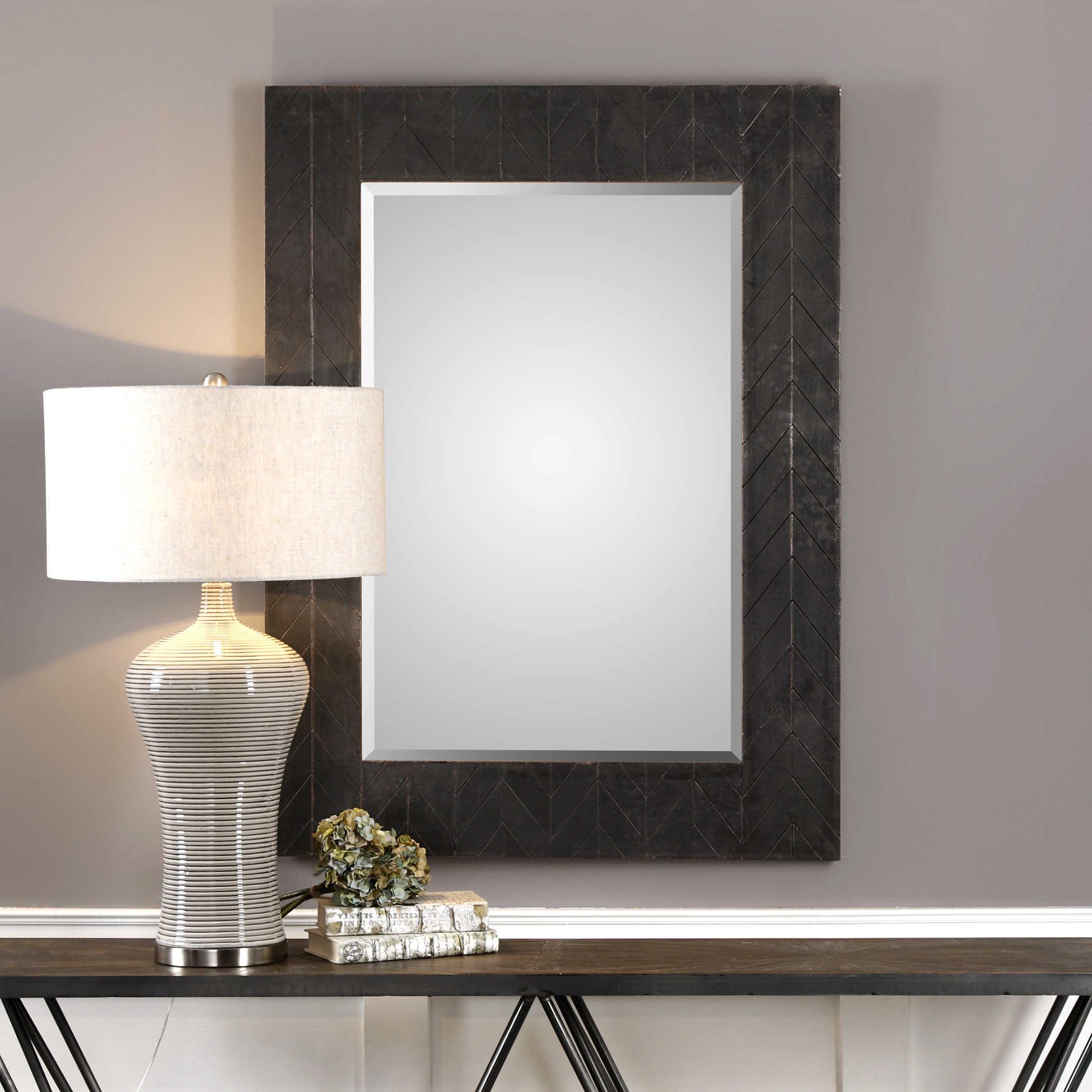 Bronze Copper Chevron Mirror-$450.00