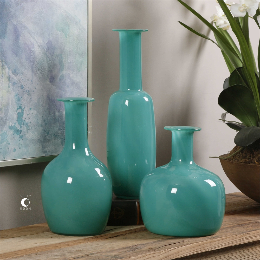 Persian Green Vases
