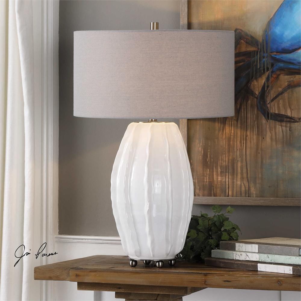 Gloss White Glazed Lamp