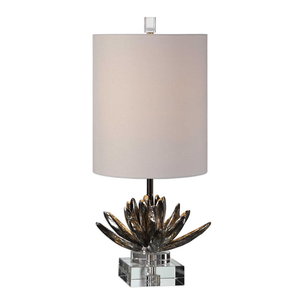 Silver Lotus Lamp