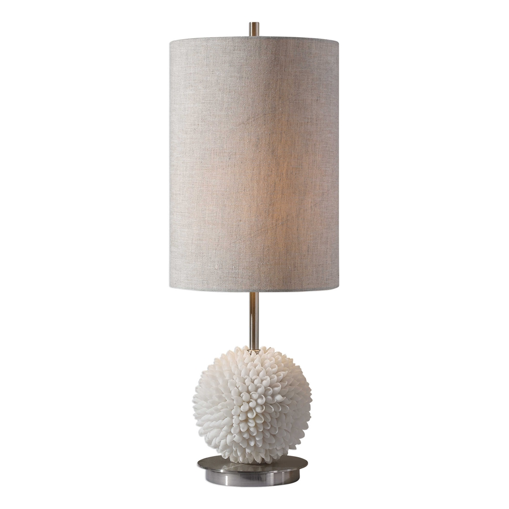 White Sea Shell Buffet Lamp