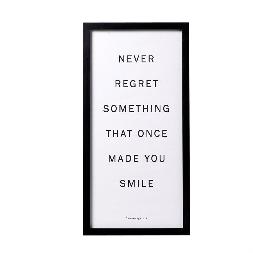 """Never Regret…"