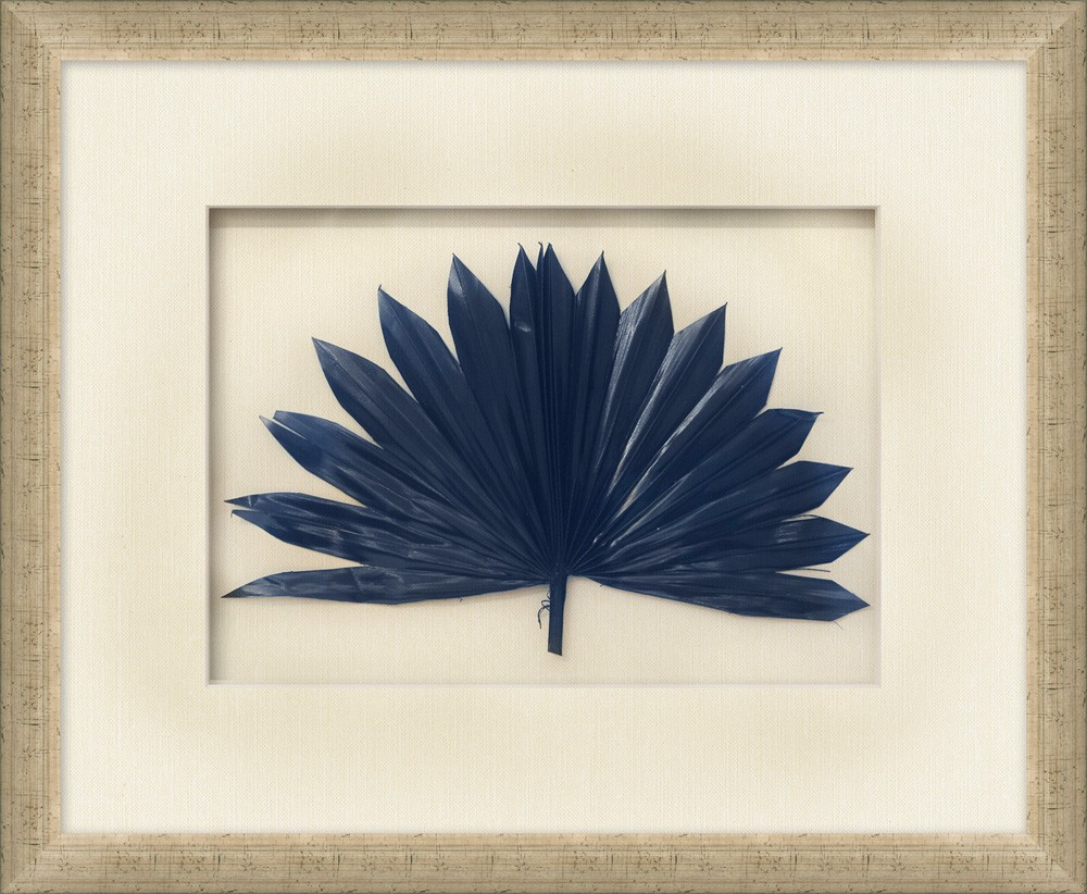 """Palm Fronds Navy"""