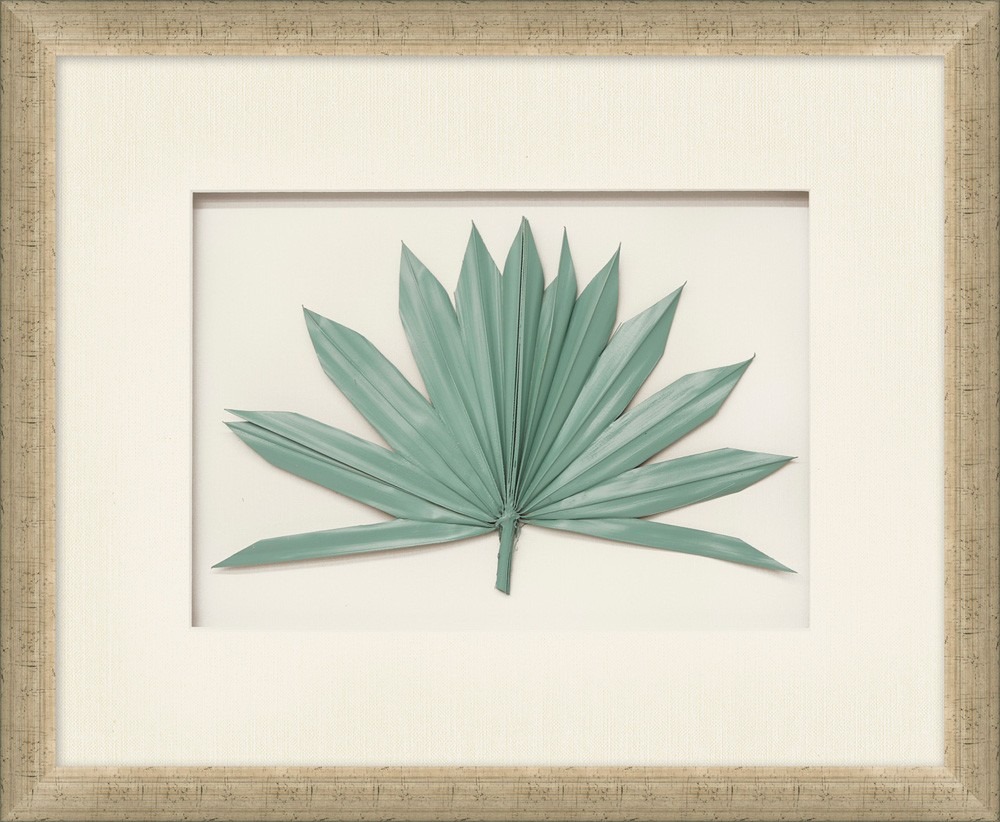 """Palm Fronds Aqua"""