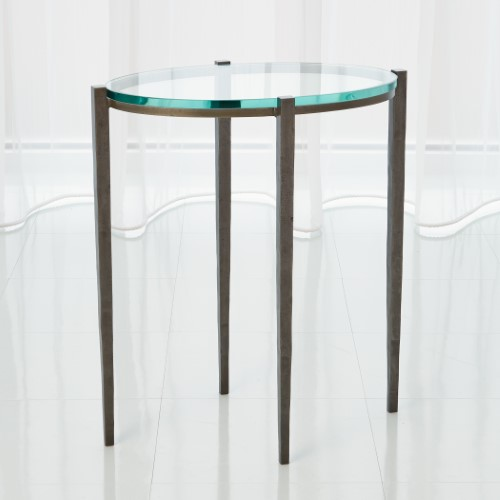 Petite Oval Accent Table – Natural Iron
