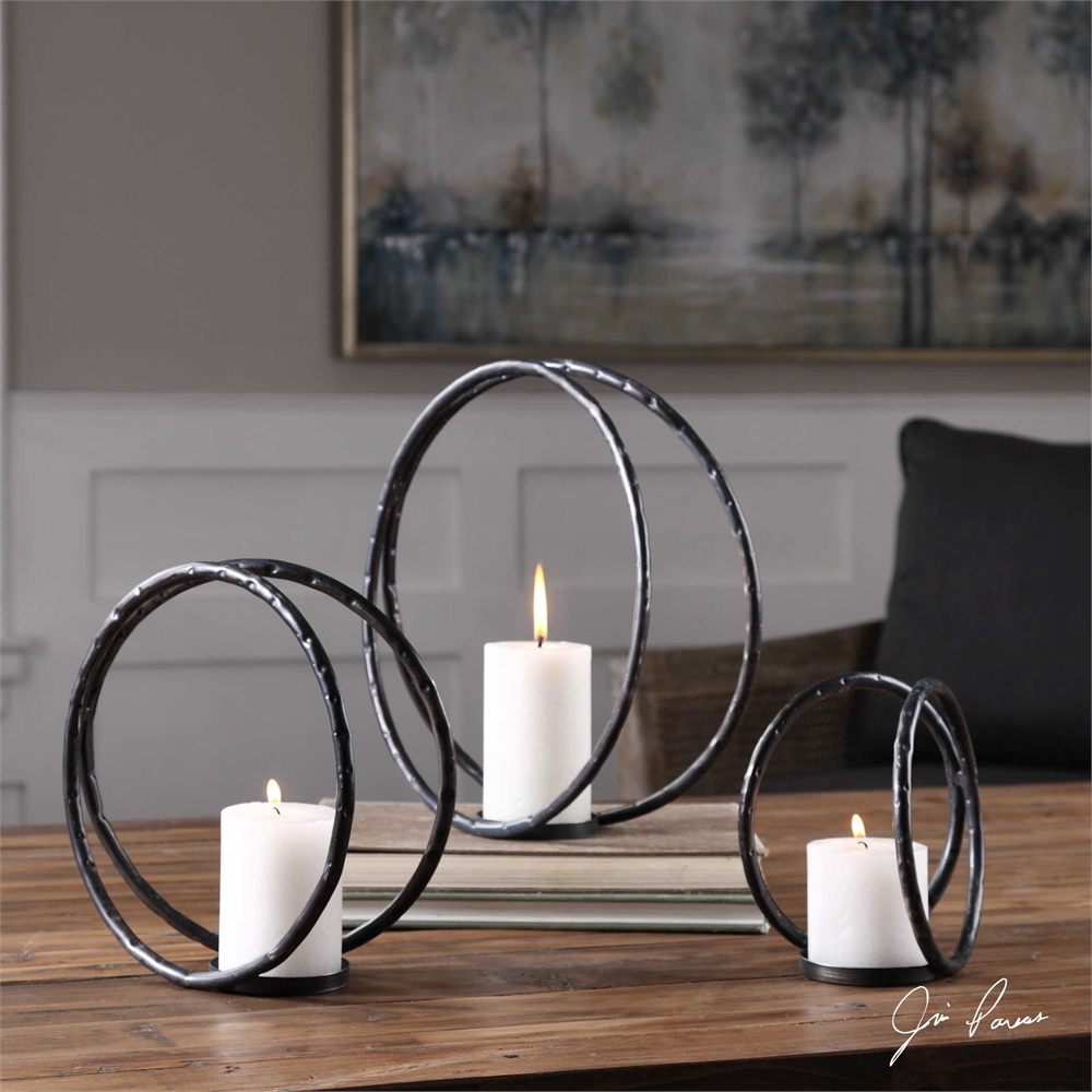 Pina Candleholders, set of 3