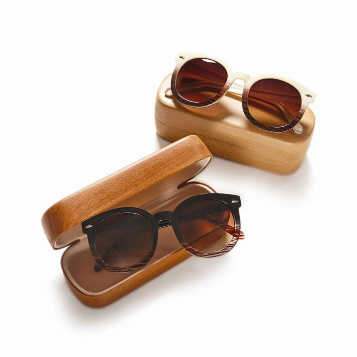 Fade Frame Sunglasses with Case