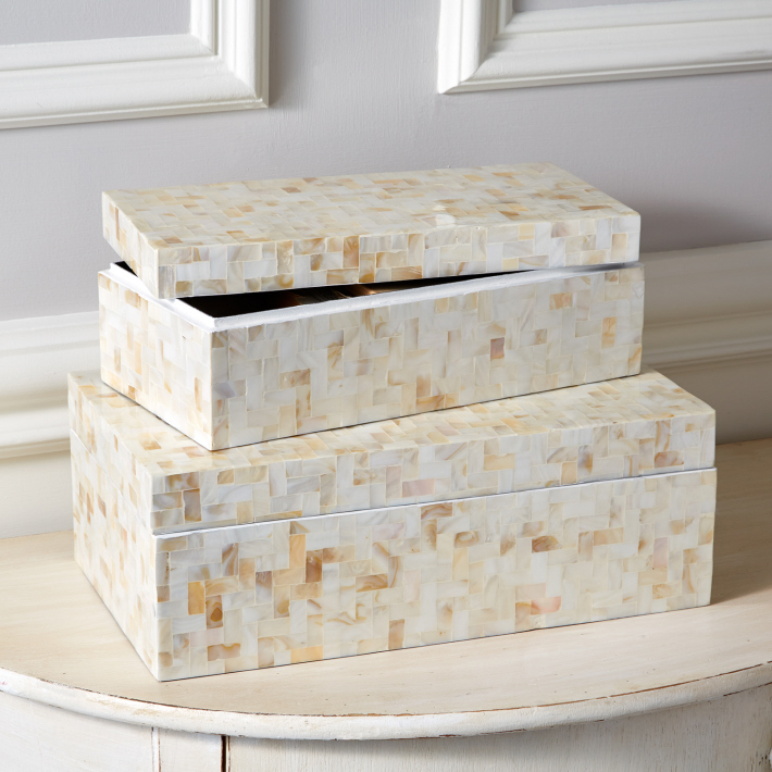 Lamina Covered Boxes