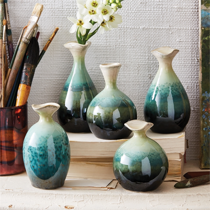Celadon Dripping Vases
