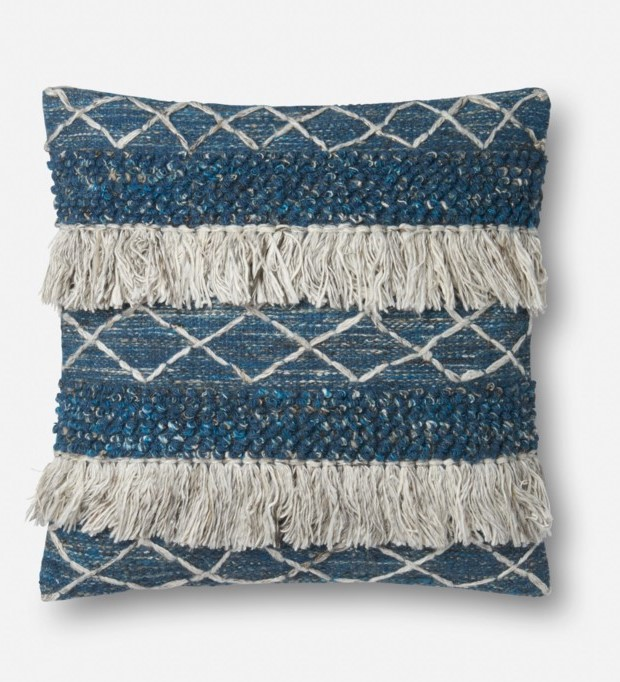 Blue/Ivory Pillow