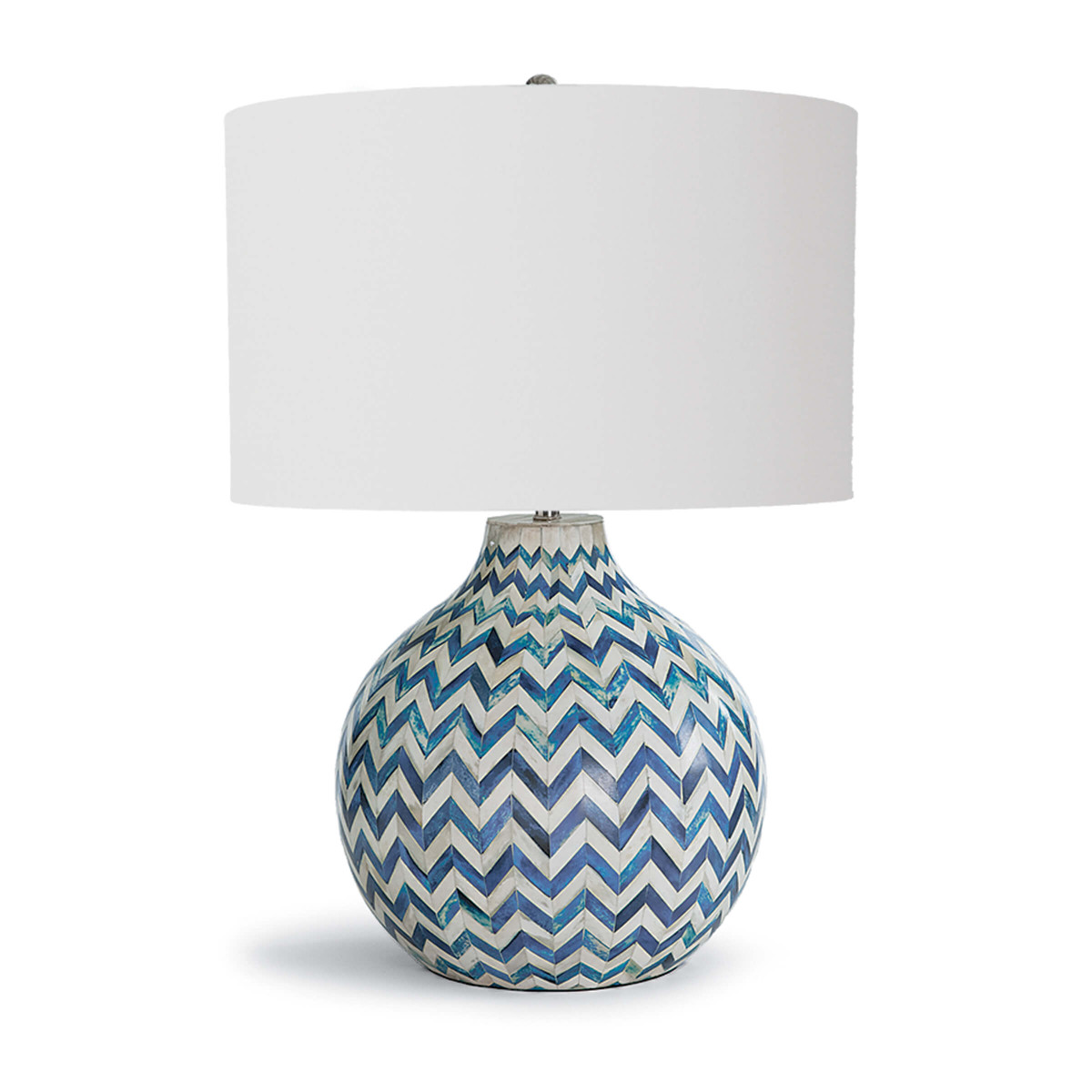 Indigo Chevron Table Lamp-$782.00