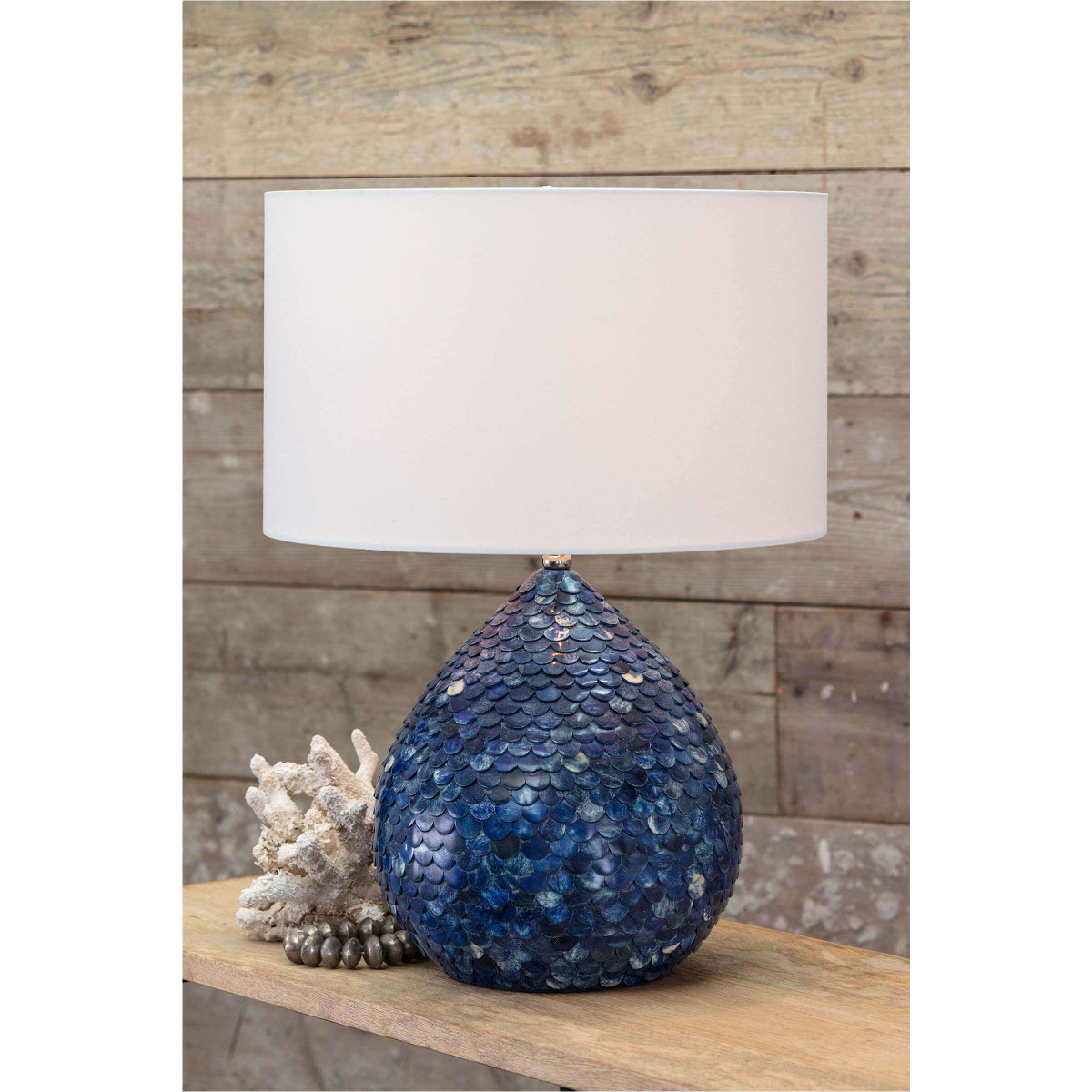 Indigo Mosaic Table Lamp