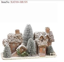 Snow Houses with Trees Table Top
