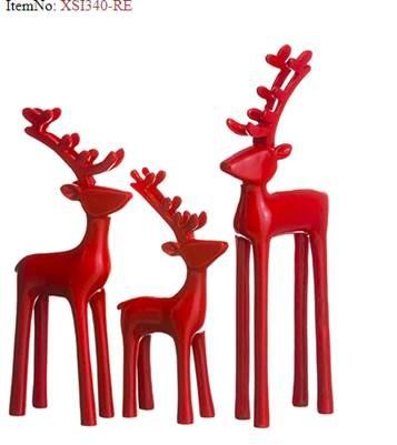 Red Reindeer Set