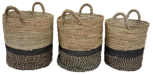 Baskets with handles-Lg. $98.00 Med. $88.00 Sm. $60.00