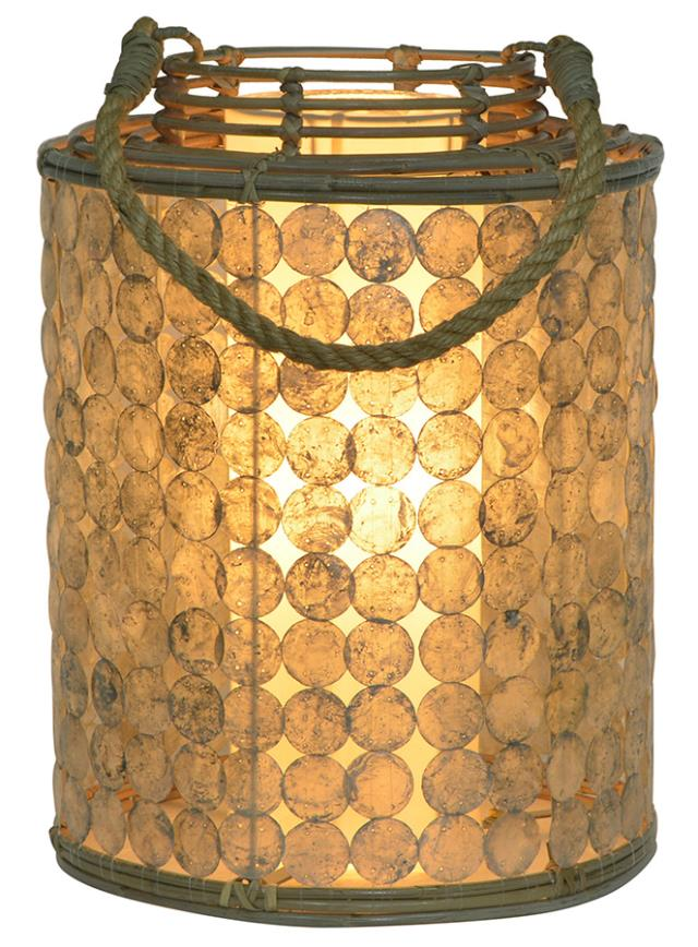 Sliced Shell Lantern Lamps-Lg. $210.00 Sm. $182.00