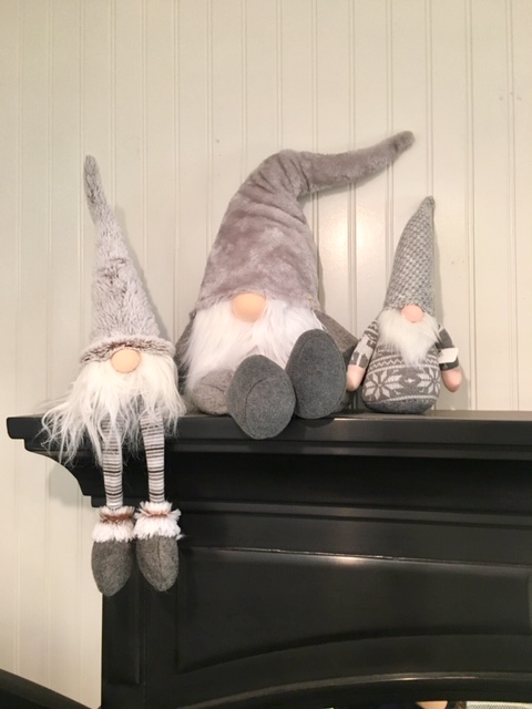Grey/White fabric gnomes