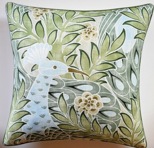Desmond Pillow Aqua and Green-$260.00
