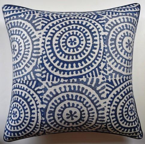 Circle Motif Pillow Navy-$275.00