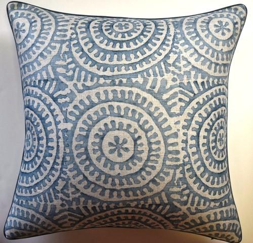 Circle Motif Pillow Aqua-$275.00