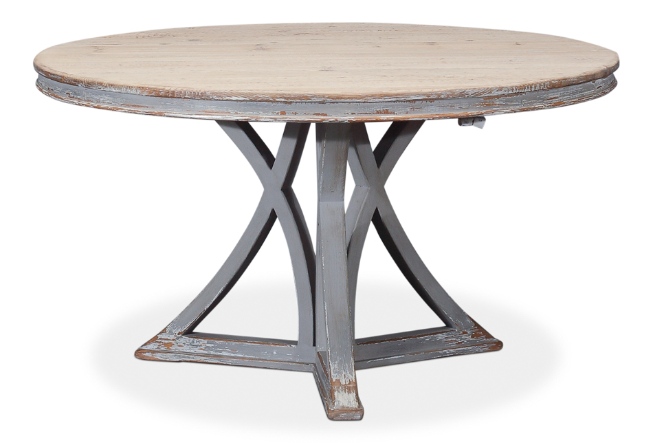 Old Pine Round Dining Table