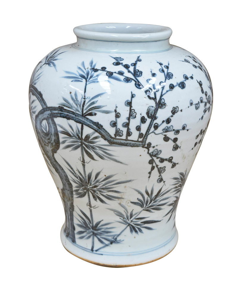 Hand Painted Trees Vase