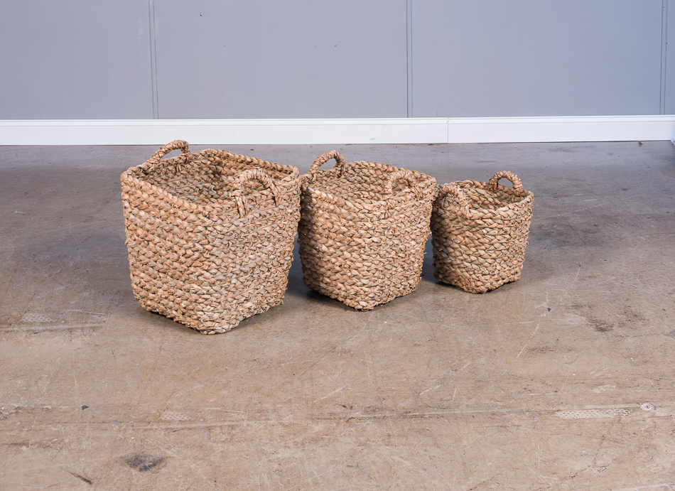 Hand Woven Baskets-Lg. $65.00 Med. $50.00 Sm. $38.00