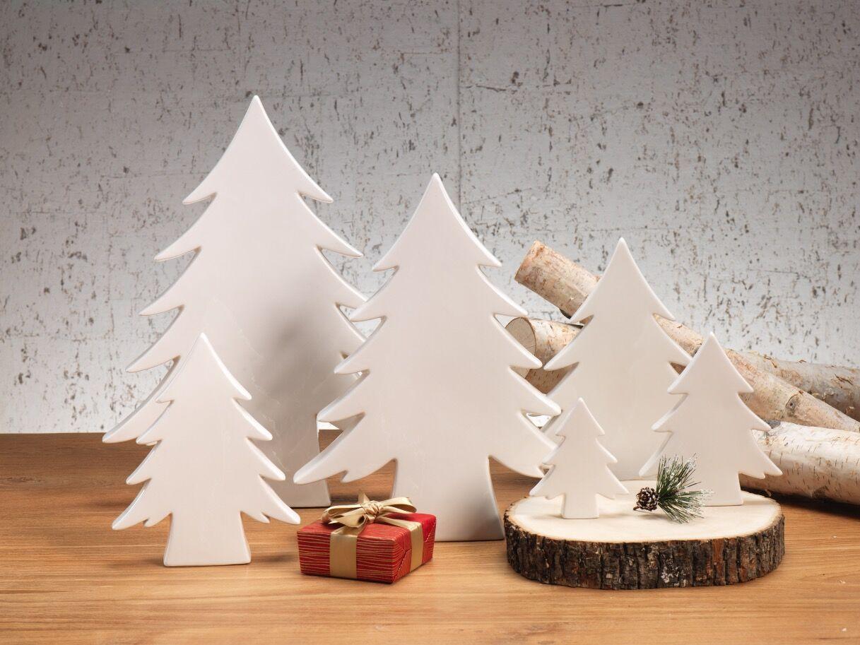 Teton White Ceramic Trees