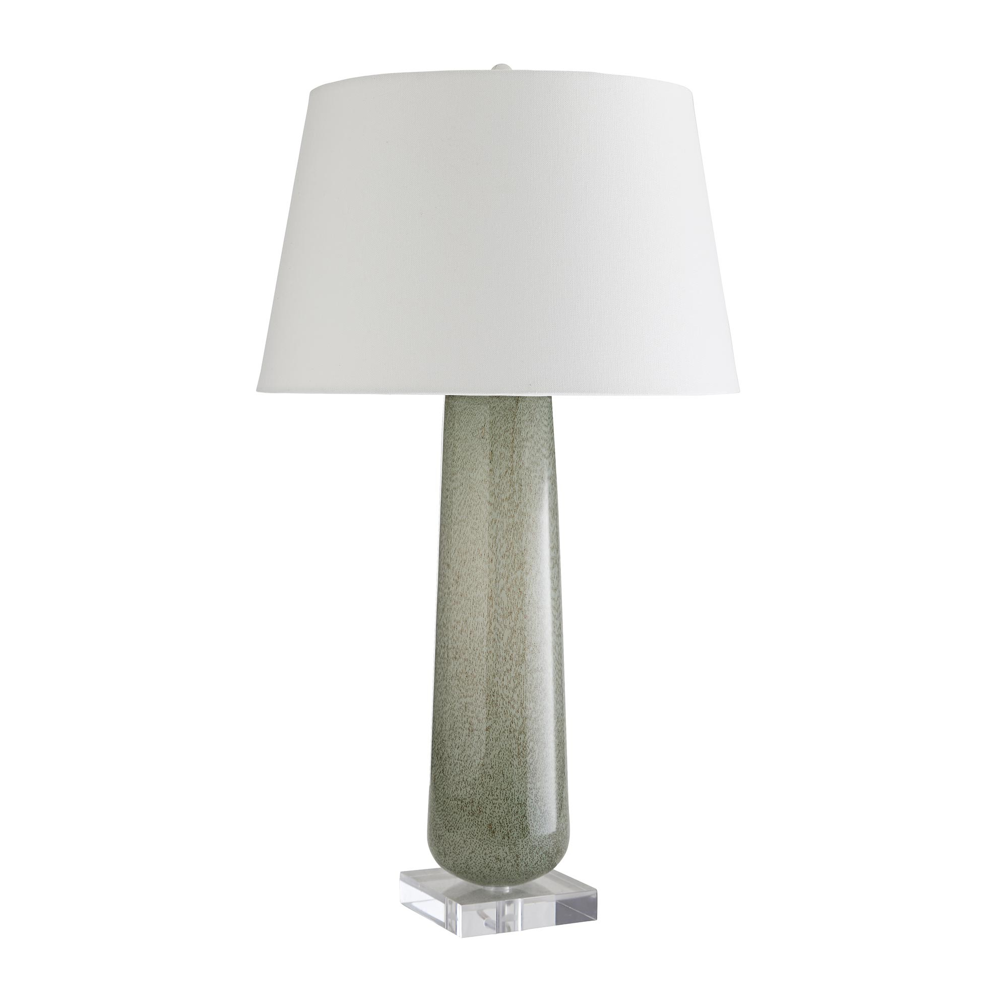 Green Art Glass Lamp-$275.00