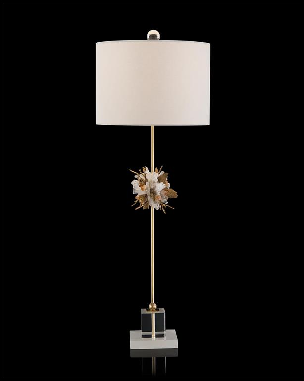 Organic Stones in Gold and White Buffet Lamp-$754.00