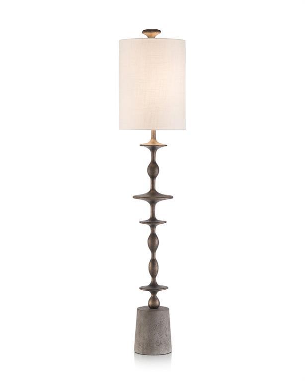 Matte Black Baluster Candlestick Lamp