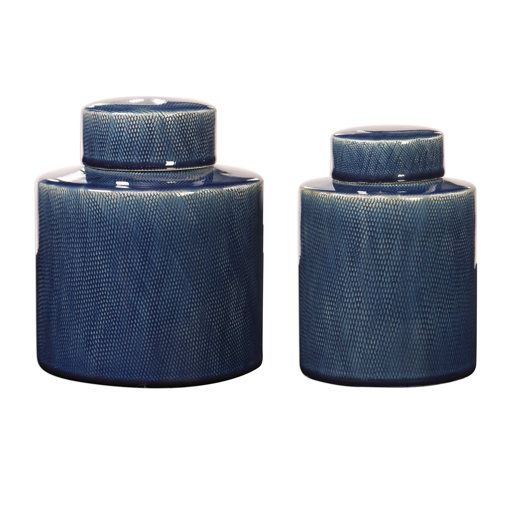 Blue Container with lid-Lg. $94.00 Sm. $72.00