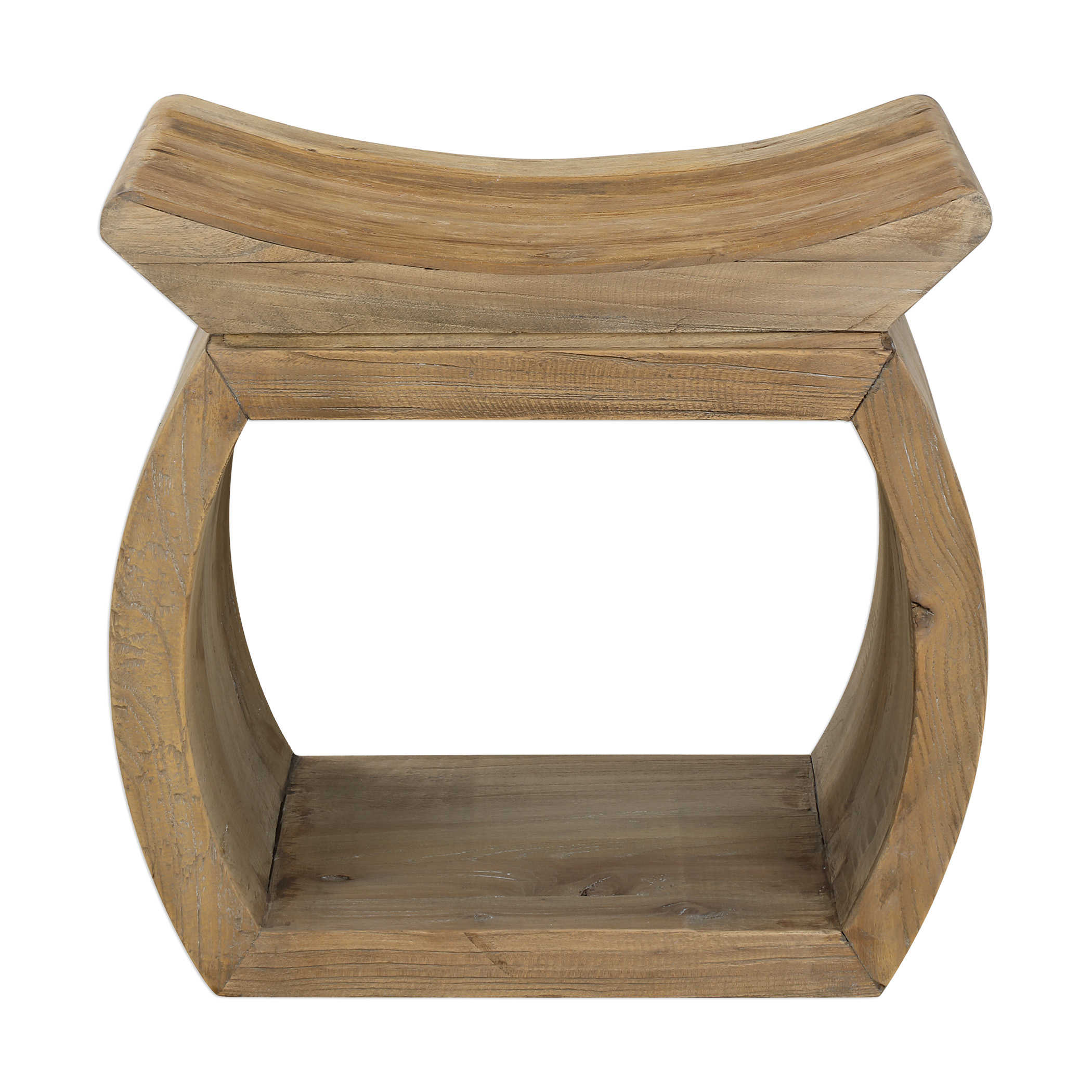 Scooped Elm Accent Stool