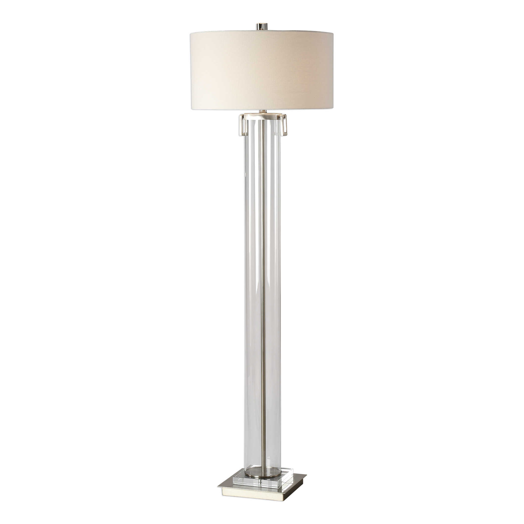 Clear Acrylic Cylinder Floor Lamp-$598.00