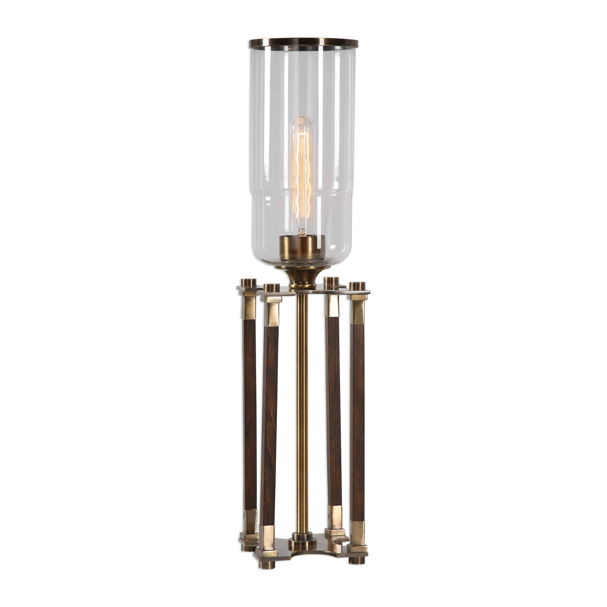 Glass Hurricane Lamp-$240.00
