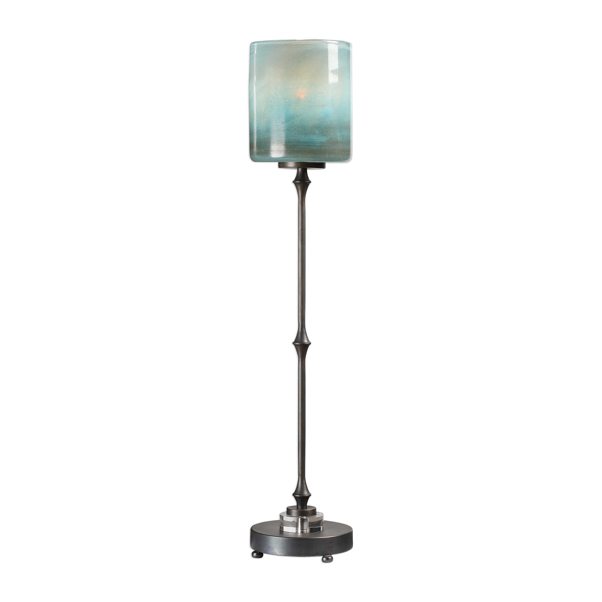 Ocean Blue Glass Lamp