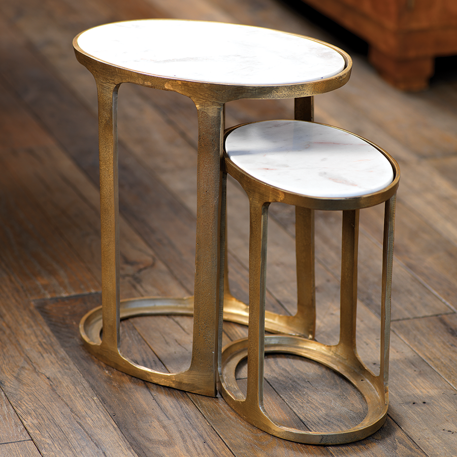 Nikki Oval Nesting Tables